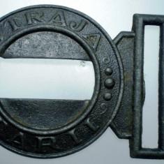 I.609 ROMANIA STRAJA TARII 1/2 PAFTA CATARAMA REGALISTA 74/50mm FIER