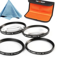 Set lentile macro K&F Concept (close up) 67 mm, 4 buc (+1 +2 +4 +10) + bonus. - Lentile conversie foto-video Kent Faith