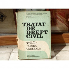 Tratat de drept civil, vol I, Partea Generala, Paul Cosmovici, 1989 - Carte Contabilitate