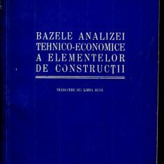 LICHIDARE-Bazele analizei tehnico-economice a elementelor de constructii - Autor : Varenik - 98031 - Carti Constructii