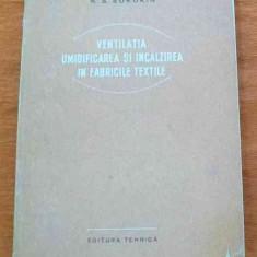LICHIDARE-Ventilatia umidificarea si incalzirea in fabricile textile - Autor : N. S. Sorokin - 61976