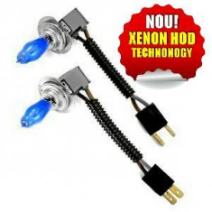 Set becuri XENON HOD, H7, (55W -> 100W) - Bec xenon