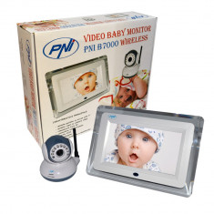 Resigilat : Video Baby Monitor PNI B7000 ecran 7 inch wireless