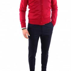 Bluza cu nastrui tip ZARA grena - pulover barbati - COLECTIE NOUA 7745, Marime: M, L, XL, XXL, Culoare: Din imagine