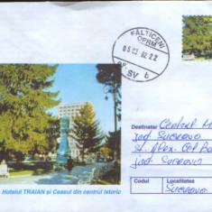 Intreg postal 2002, circulat - Braila - Hotelul Traian, Dupa 1950