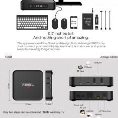 Mini PC Amlogic T95M SmartTV Box 2GB RAM Quad Core S905X 2Ghz Android 6.0 BT 4
