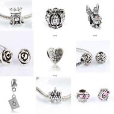 SET 9 Charmuri talismane placate argint pt bratara PANDORA - Bratara argint pandora, Femei