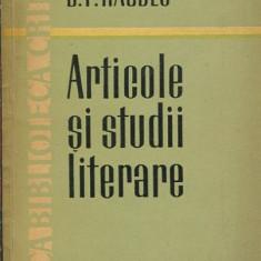 LICHIDARE-Articole si studii literare - Autor : B.P. Hasdeu - 106470 - Eseu