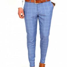 Pantaloni tip ZARA carouri - pantaloni barbati - pantaloni office -7792, Marime: 30, 31, 32, 33, 34, Culoare: Din imagine