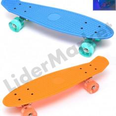 Penny Board plastic cu roti iluminate din silicon