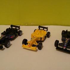 Lot 3 jucarie masinute formula 1 plastic, 10x5cm - Masinuta