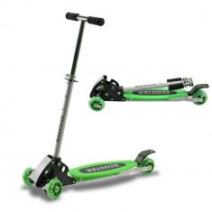 Trotineta cu 4 roti Scooter ACTION YT4-01 - Trotineta copii, Unisex, Verde