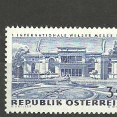 AUSTRIA 1966 – ARHITECTURA, timbru nestampilat FL176