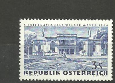 AUSTRIA 1966 – ARHITECTURA, timbru nestampilat FL176 foto