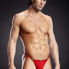 Tanga barbati - L/XL rosu - Lenjerie sexy barbati