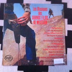 Les musiques des grands films de western Geoff Love disc vinyl lp muzica film - Muzica soundtrack, VINIL