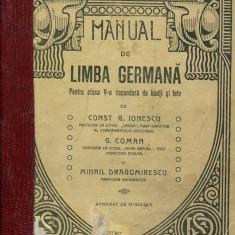 LICHIDARE-Manual de limba germana- pentru clasa a V-a secundara de baieti si fete - Autor : Const G.ionescu - 139747