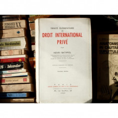 Traite elementaire de droit International Prive, Henri Batiffol, 1959 - Carte Drept international