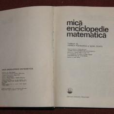 Mica enciclopedie matematica - Carte Matematica