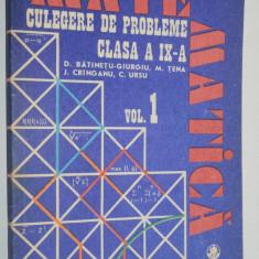 Culegere de probleme clasa a IX -a