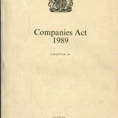 LICHIDARE-Companies act 1989 - Autor : - - 134612 - Carte Cinematografie