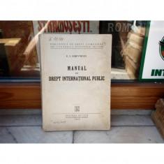 Manual de drept international public, F. I. Cojevnicov, 1949 - Carte Drept international