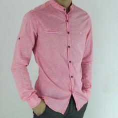Camasa barbati - tip ZARA - tunica - roz - slim fit - casual - fashion, Marime: L, XL, Maneca lunga