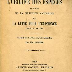 LICHIDARE-L origine des especes au moyen de la selection naturelle ou la lutte pour l existence dans la nature - Autor : Barbier - 98956 - Carte Biologie