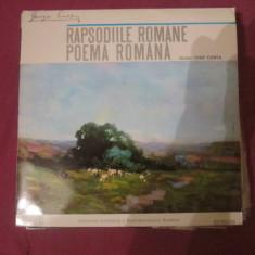 Vinil muzica george enescu poema romana - Muzica Clasica Altele