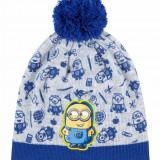 Caciula din tricot Minions albastru/gri - Caciula Copii