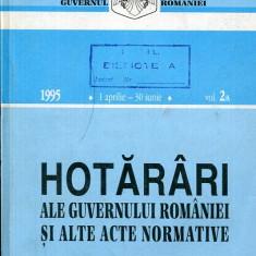 LICHIDARE-Hotarari ale guvernului Romaniei si alte acte normative- vol.2A- 1 aprilie-30 iunie 1995 - Autor : - - 97879 - Carte Drept penal