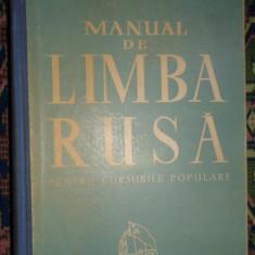 Manual de limba rusa pentru cursurile populare an 1961/747pagini