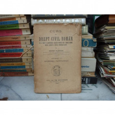 CURS DE DREPT CIVIL ROMAN VOLUMUL V, George Plastara - Carte Drept civil