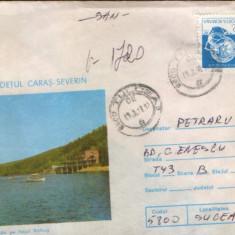 Intreg postal1987, circulat- Vedere de pe lacul Valiug, Jud.Caras Severin - 2/scan, Dupa 1950