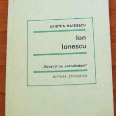 LICHIDARE-Ion Ionescu - Autor : Cristea Mateescu - 37083 - Biografie