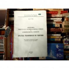 Aplicarea dreptului international public, Ioan P. Filip, 1948 - Carte Drept international