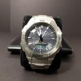 CASIO MEN'S WAVE CEPTOR TITANIUM Alarm chronograph watch