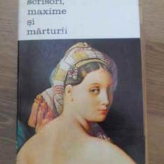 Scrisori, Maxime Si Marturii - Ingres, 393312 - Album Arta