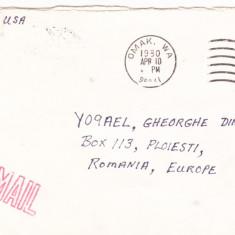 Bnk fil - Aerofilatelie - circulatie Posta aeriana USA Romania