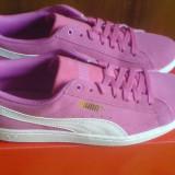 Adidasi Puma Vikky Smash 41EU -piele naturala- produs original- IN STOC - Adidasi dama Puma, Culoare: Roz, Piele intoarsa