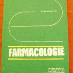 LICHIDARE-Farmacologie - Autor : E. Manolescu - 70134 - Carte Farmacologie