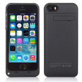 Baterie extinsa neagra model Husa 2200mAh Iphone 5 5G 5S - Baterie externa