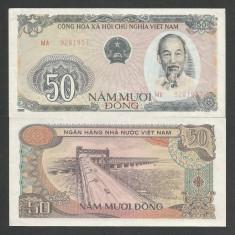 VIETNAM 50 DONG 1985 a UNC [1] P-97a, aproape necirculata - bancnota asia