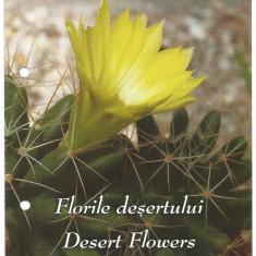 Pliant Filatelic- Florile desertului -2014