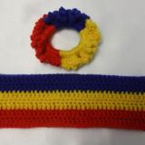 Set bentita 8 cm si elastic par/manseta tricolore PATRIOT