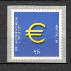 Germania.2002 Moneda si bancnota EURO autoadeziv SG.1103 - Timbre straine, Nestampilat