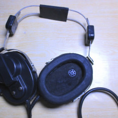 Casti audio militare rare armata morse telefon sau radio vechi