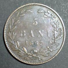 5 bani 1867 2 Watt & Co - Moneda Romania