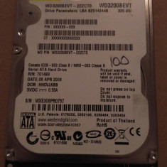 Hard Disk / HDD SATA WESTERN DIGITAL SCORPIO 320GB 100% HEALTH Laptop - HDD laptop Western Digital, 300-499 GB, Rotatii: 5400