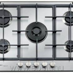 Plită încorporabilă Whirlpool GMF 7522/IXL, Argintiu, Numar arzatoare: 5, Gaz